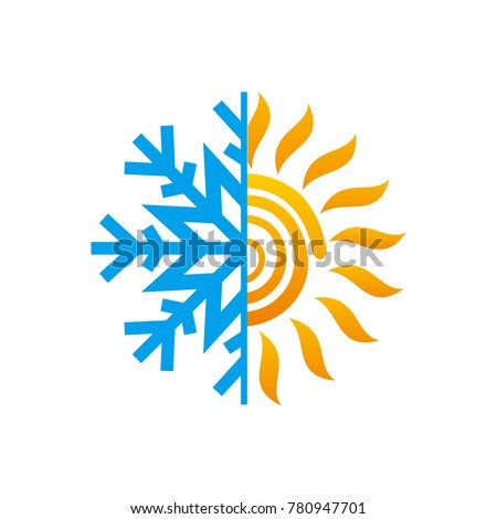 Hot Cold Symbol Sun Snowflake All Stock Vector 2018 780947701