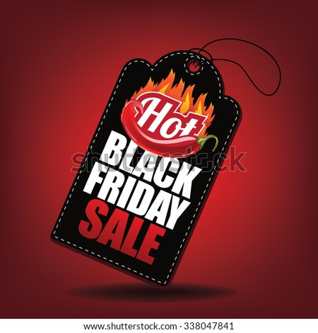 Hot Black Friday sale tag. EPS 10 Vector