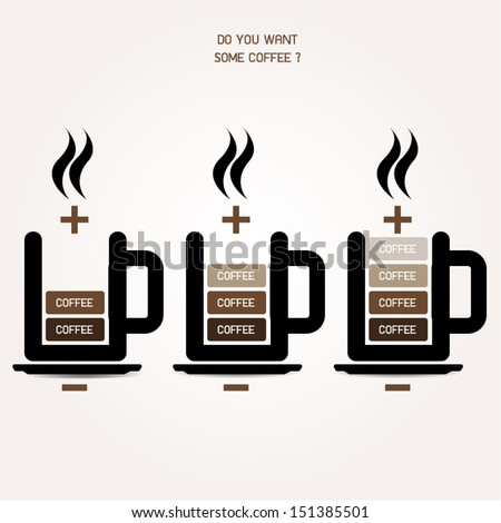 Hot coffee battery vector icon. ( Recharge your energy) - stock vector