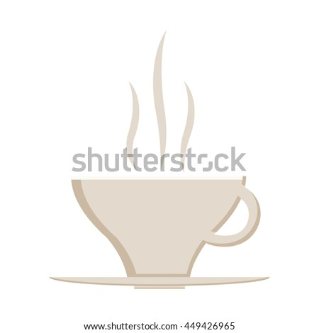 Hot coffee cup icon