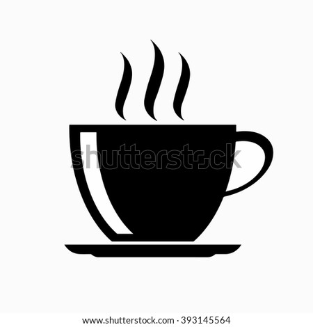 hot coffee cup vector icon stock vector 2018 393145564 shutterstock rh shutterstock com coffee cup vector free download coffee cup vector top view