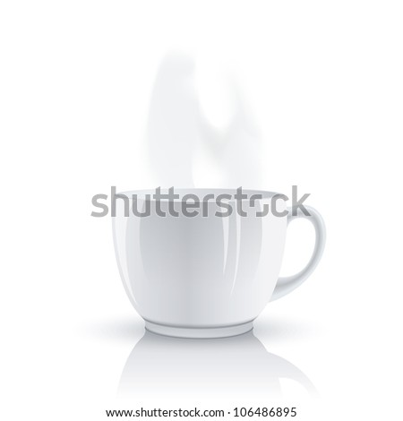 Hot cup - stock vector