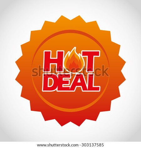hot deal design, vector illustration eps10 graphic  - stock vector