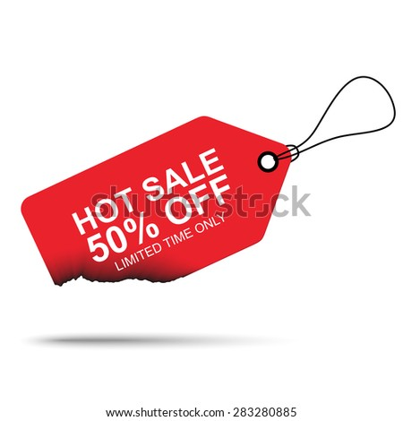 Hot deal sales tag - stock vector