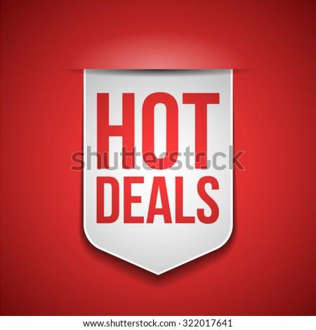 Hot Deals - stock vector