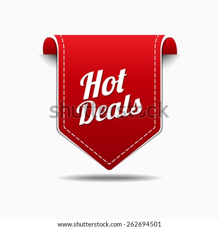 Hot Deals Red Vector Icon Design