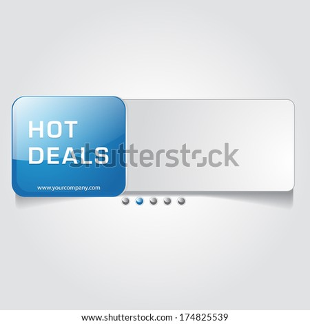 Hot Deals Stylish Web Banner Vector Design