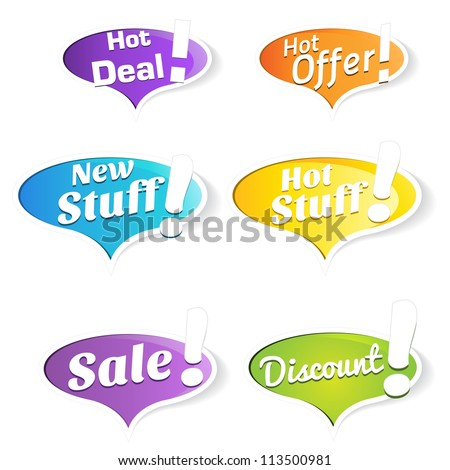 Hot Deals Tags and Labels