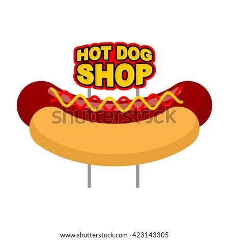 vector logo hot dog stock vector 501871852 shutterstock. Black Bedroom Furniture Sets. Home Design Ideas