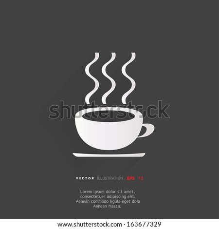 Hot drink web icon - stock vector