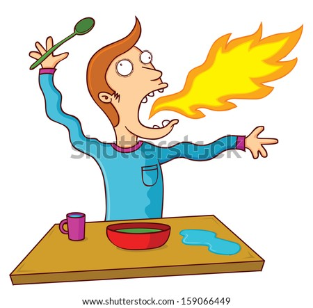 hot food - stock vector