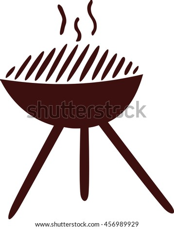 Hot grill icon