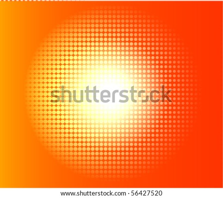 hot halftone background - stock vector