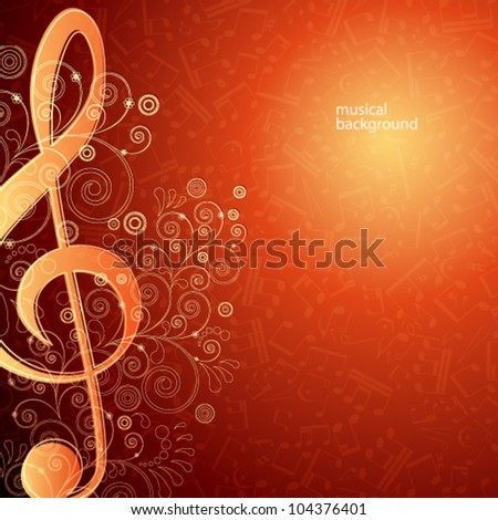 Hot musical vector background - stock vector