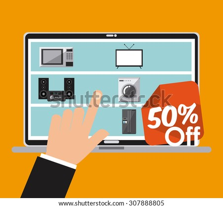 hot offer design, vector illustration eps10 graphic  - stock vector