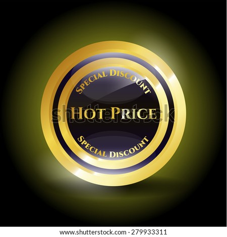 Hot price gold shiny medal