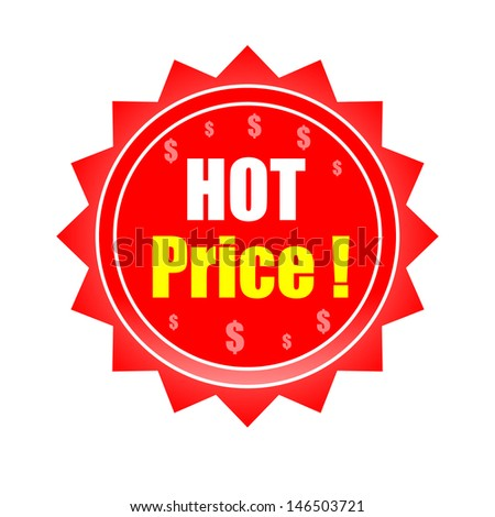 hot price label vector