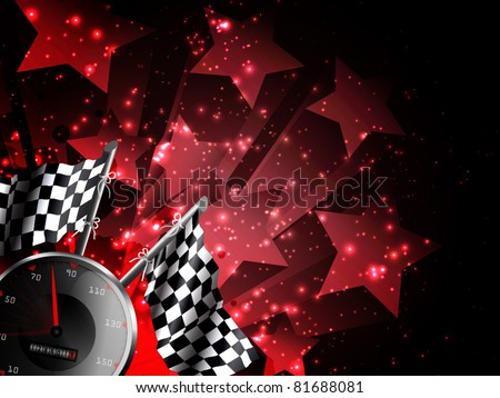 Hot racing background with stars - stock vector