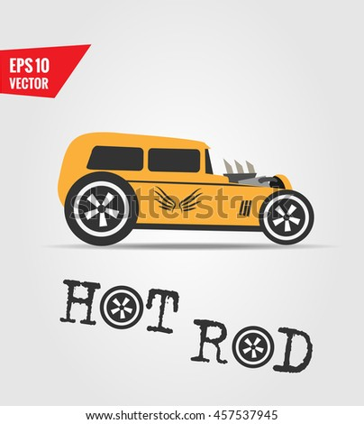 Hot Rod Car - stock vector