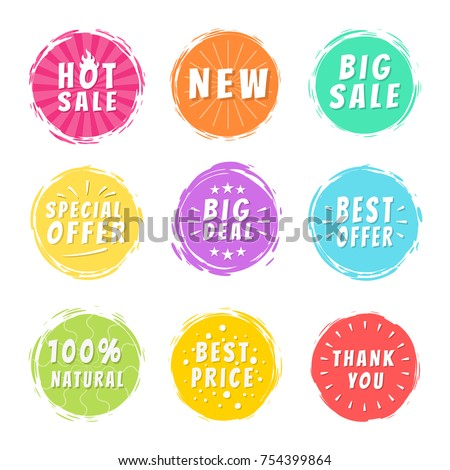 Hot sale new big deal special offer promo best price 100 natural thank you stickers