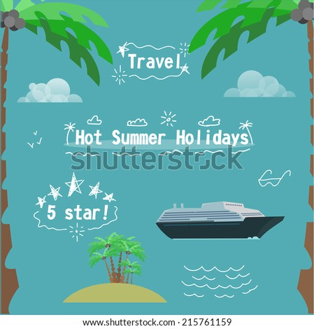 Hot Summer holidays kit for you design - stock vector