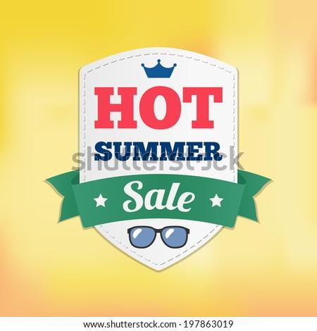 HOT summer sale. - stock vector