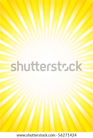 hot sunburst (offical page dimensions) - stock vector