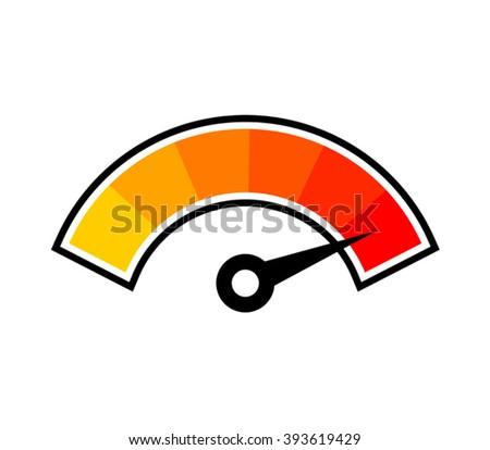 hot temperature symbol - stock vector