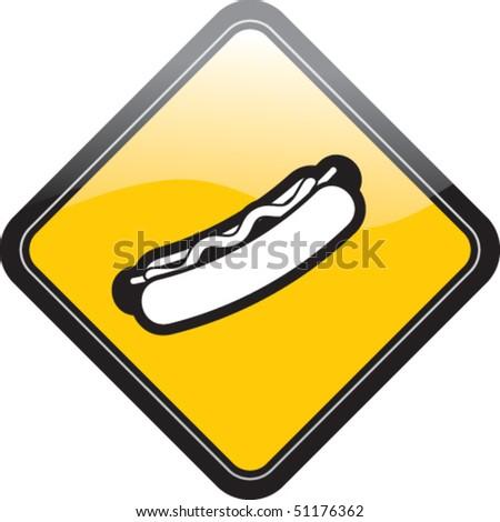 Hotdog - stock vector