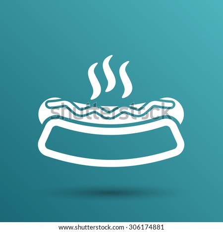 hotdog logo icon food symbol fastfood grill. - stock vector