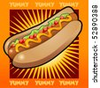 hotdog zoom out - stock vector