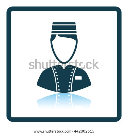 Hotel boy icon. Shadow reflection design. Vector illustration. - stock vector