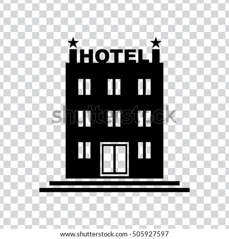 Hotel Building Icon Stock Vector 505927597