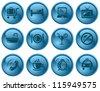 Hotel button set - stock photo