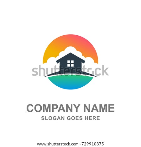 Hotel House Cottage Resort Logo Vector Icon
