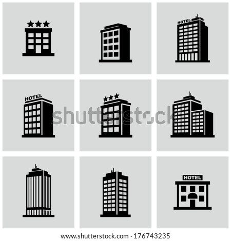 Hotel icon - stock vector