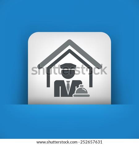 Hotel icon - stock vector
