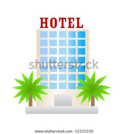 Hotel Building Icon Vector Hotel Icon Stock Vector