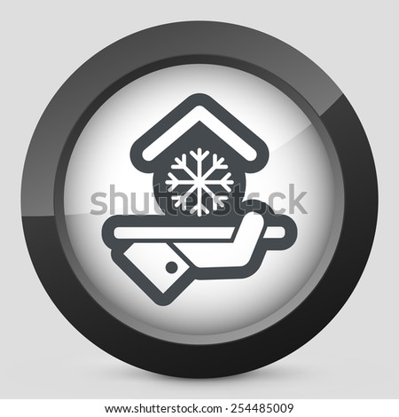 Hotel icon. Air conditioning. - stock vector
