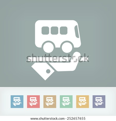 Hotel icon. Bus service. - stock vector