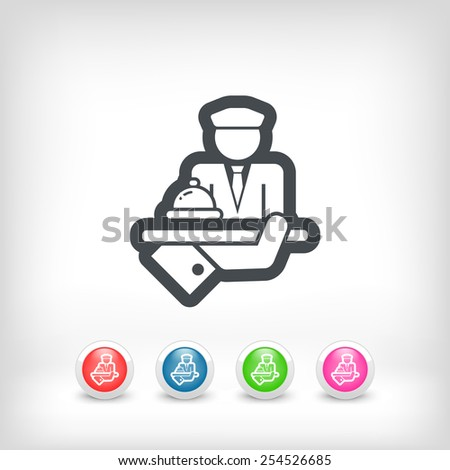 Hotel icon. Porter. - stock vector
