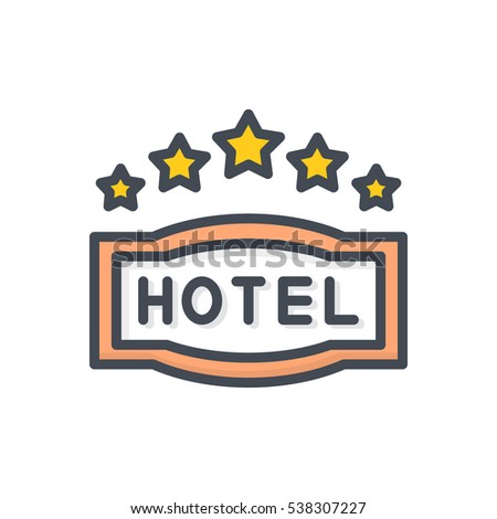 Hotel Icon 5 Star Sign