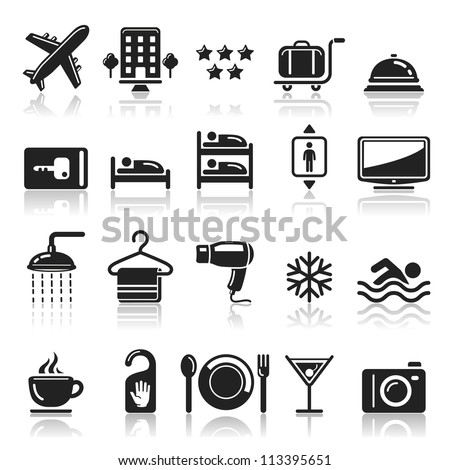 Hotel icons set1. vector eps 10 - stock vector