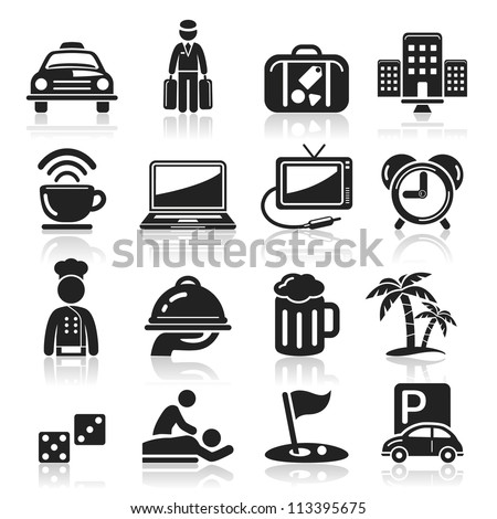 Hotel icons set5. vector eps 10 - stock vector