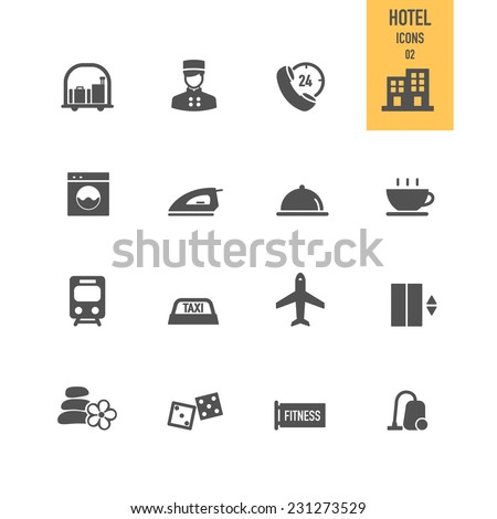 Hotel icons. Vector illustration. - stock vector