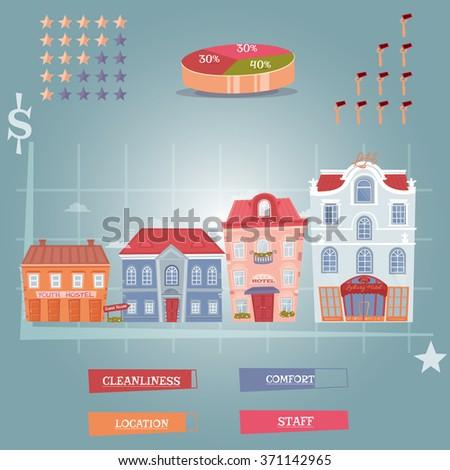 Hotel infographics elements - stock vector