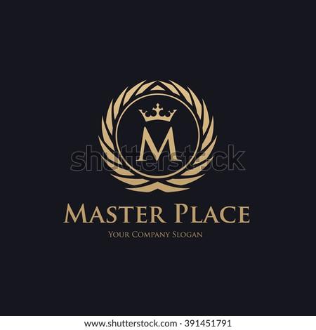 Hotel logo,boutique logo,crest logo,vector logo template - stock vector