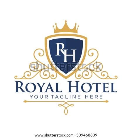 Hotel Logo Template - stock vector