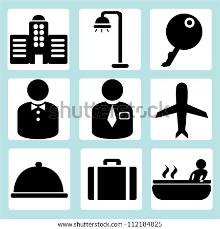 hotel management icon - stock vector