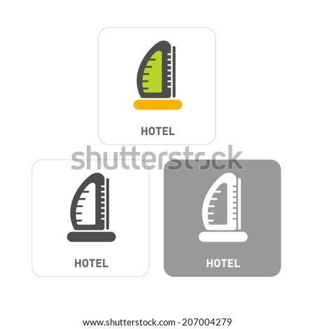 Hotel Pictogram Icons  - stock vector